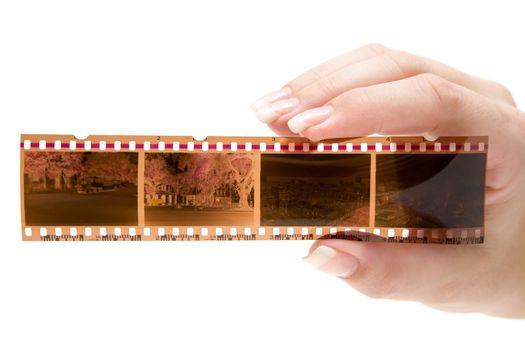 Holding a Filmstrip
