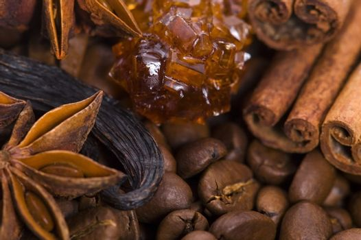 aroma coffe. ingredients.