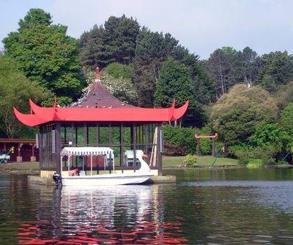 Bandstand on boating lake