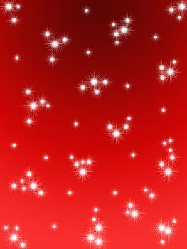 Red Christmas background. Snow falls. Snow Christmas night