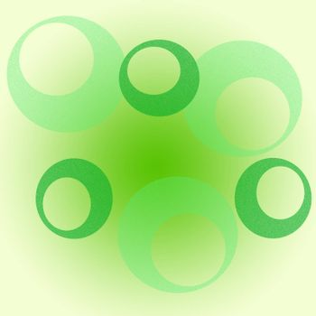 abstract background with some different green circles