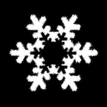 white snowflake on black background. Christmas snowflake. Christmas