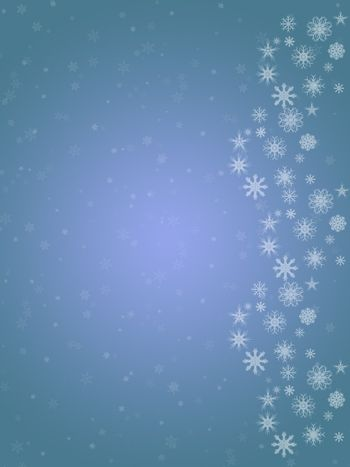 christmas snowflake background made in blue colors.