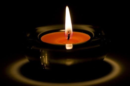 candle flaming
