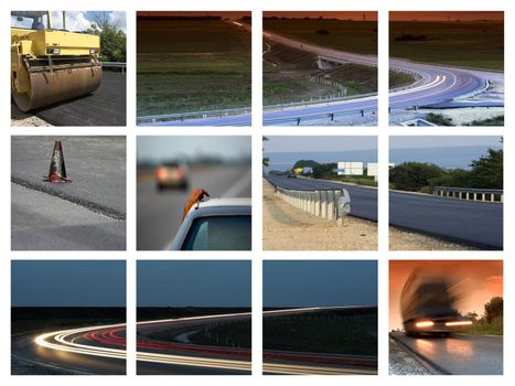 This is a  transportation themed collage
