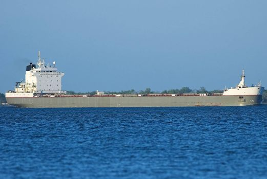 Cargo ship on the St-Lawrence seaway.