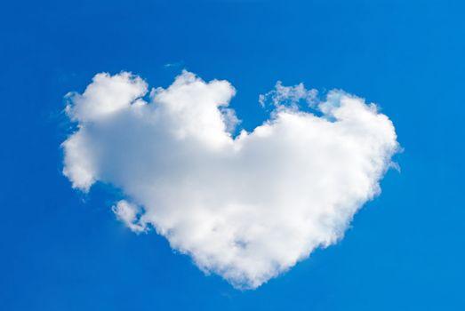 One big cloud looks like a heart