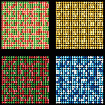 Set of four seamless christmas backgrounds. Vector Image