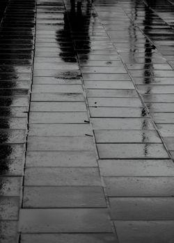 wet street mirror