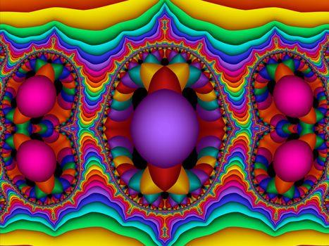 Fractal 3D colorful ornament