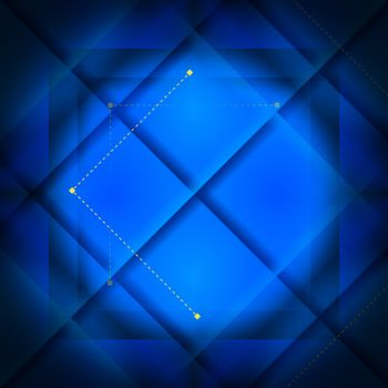 Background with blue large squares and smal yellow