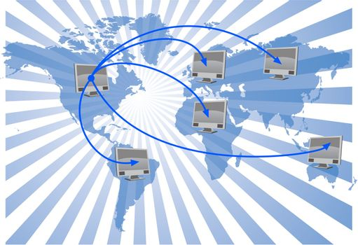 world network - vector