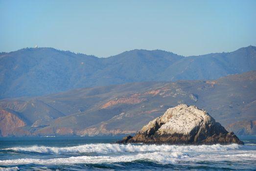 View from Ocean Beach in San Francisco California