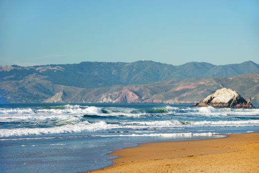 Ocean Beach in San Francisco California