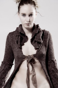 High fashion model posing firm
