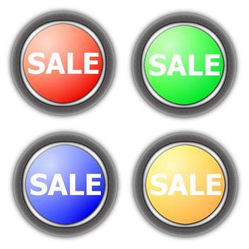 sale button collection
