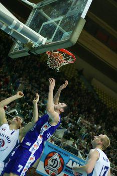 Basketball match Dinamo - Greyt. Moscow. Russia