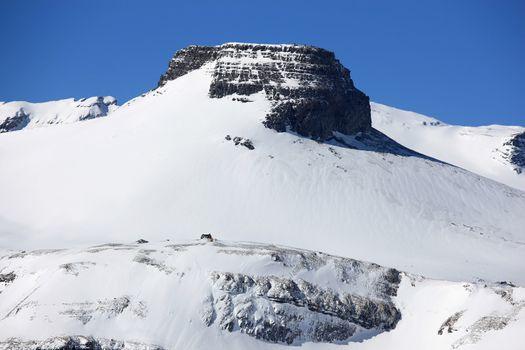 Swiss mountains in Winter