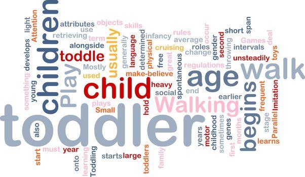 Background concept illustration of child baby toddler