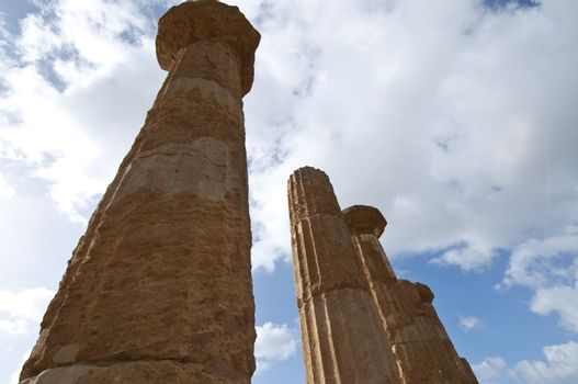Temple of Hercules in the Valley of the Temples in Agrigento