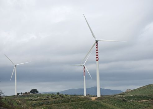 first floor of a wind blade in operation in Sicily