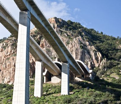 highway bridges along the highway Palermo Messina