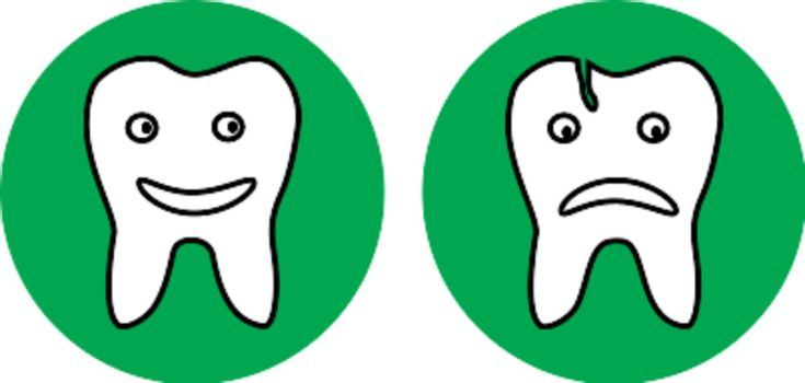 There are dental icons
