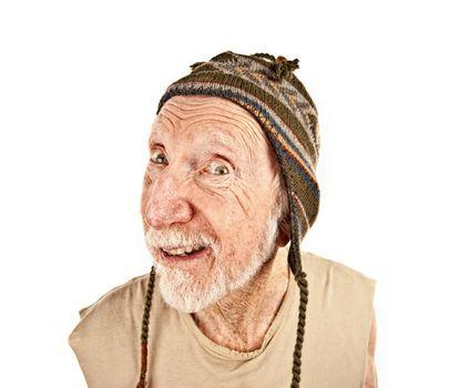 Senior Man in Knit Hat