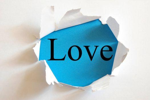 love on blue