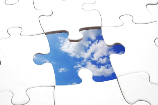 puzzle and sky Royalty Free Stock Image   Stock Photos, Royalty Free  Images, Vectors, Footage   Yayimages