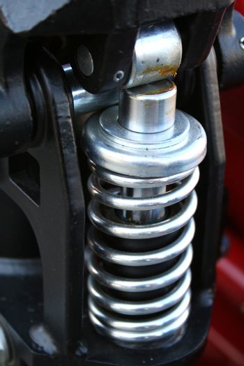 Spring element in the hydraulic mechanism