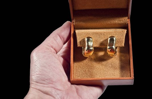 Women who received a gift of gold earrings