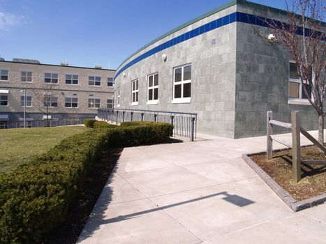 a modern school or office building