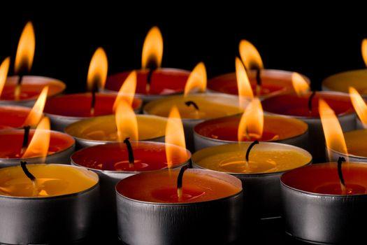 flaming candles