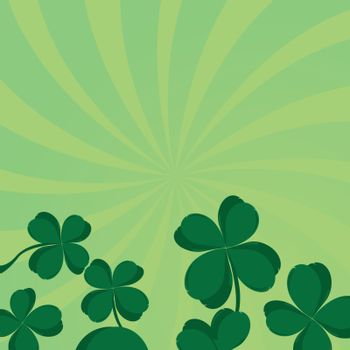 Four leaf clover composition with room for your text