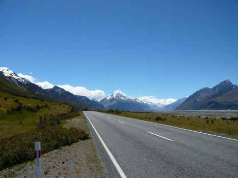 Mt Cook in New Zealand