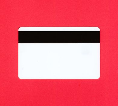 Empty white credit card back