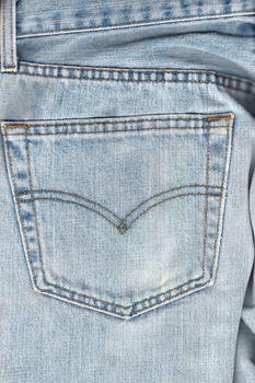 Back pocket on worned jeans