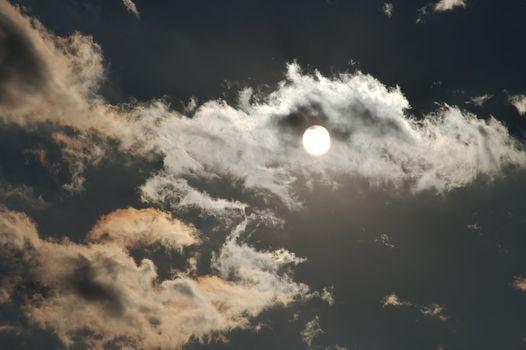 Sun shine through the clouds