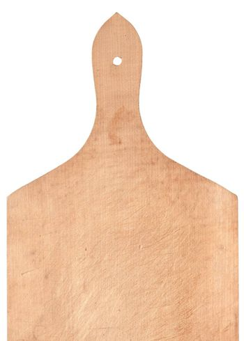 Wooden cooking board on white