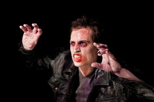 Zombie in spotlight