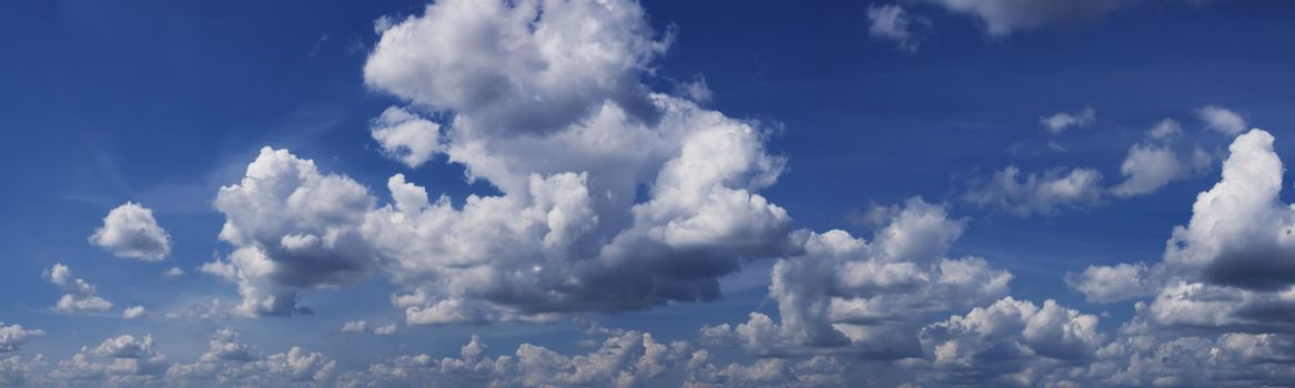 Cloudy sky panorama from Lithuania