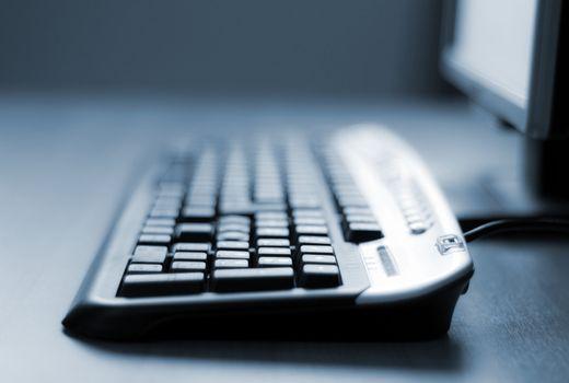 Computer keyboard close-up