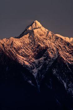 Mt. Jade peak in dawn