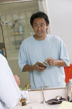 Man Preparing to Shave