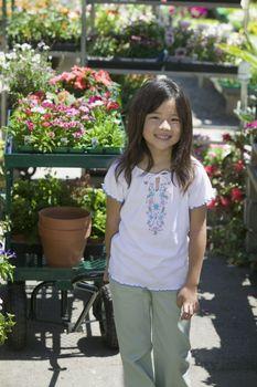 Girl at Plant Nursery