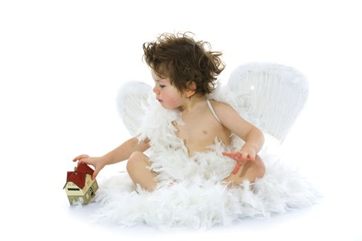 Little angel and house