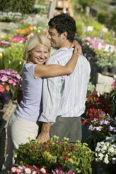 Couple at Plant Nursery