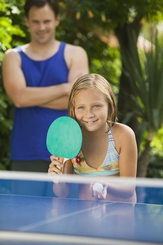 Girl Playing Ping-Pong