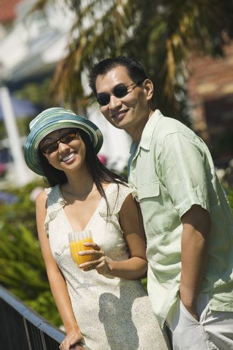 Couple with Orange Juice